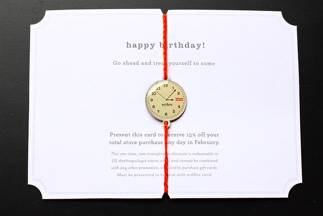 Anthropologie January Birthday Coupon