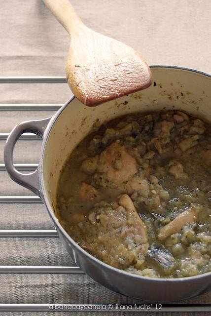 Cocotte de pollo y berenjena
