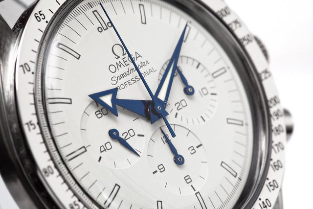 Custom Omega Speedmaster White Dial