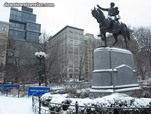 NYC Snowstorm January 2012 Union Square_10