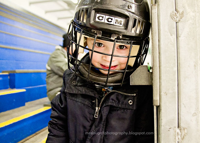 Ethan at the rink