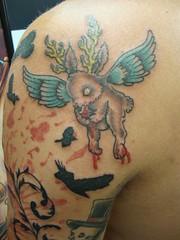 Evil Reindeer Tattoo