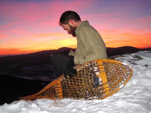 Huron snowshoe- traditional snowshoe type