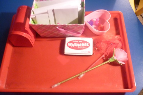 Valentine Writing Tray (Photo from The Work Plan)