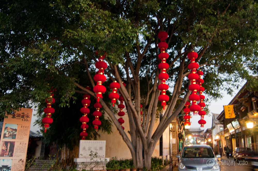 Red lanterns for Chinese New Year at Zhus garden