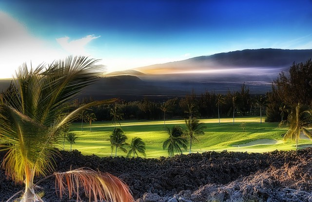Morning west of Mauna Kea