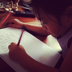 My daughter thinks I'm torturing her when i'm trying to get her to write. She is starting spelling tests in school! Gak!