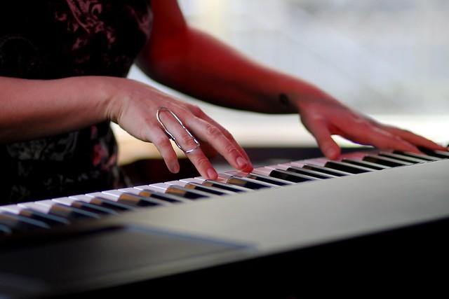 Ingrid plays the keys
