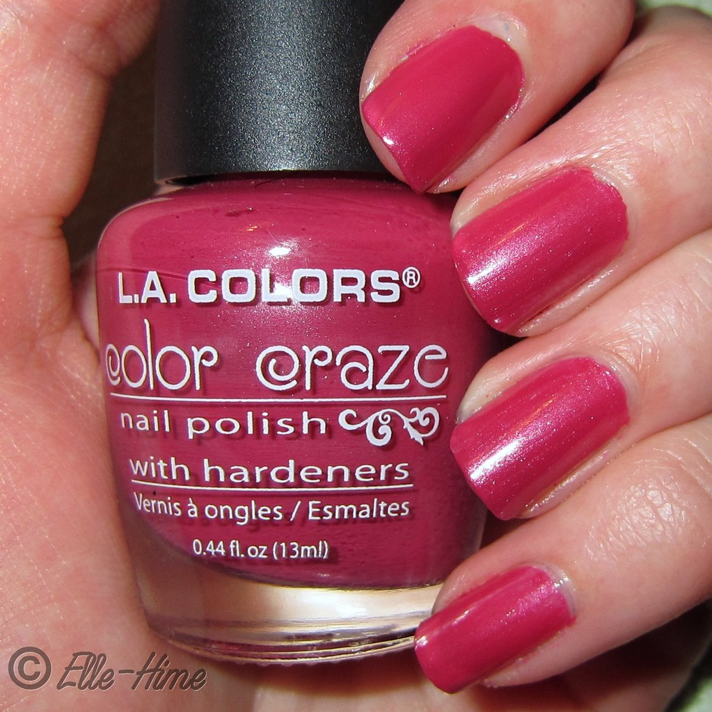 Princessly Polished: Swatch & Review: L.A. Colors - Pink Chiffon