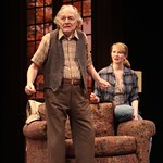 Jack Jameson (Jonathan McMurtry, l.) tried to assert his authority, despite his battle with Alzheimer's disease as granddaughter Emily (Halley Feiffer) looks on in the Huntington Theatre Company's production of Third by Wendy Wasserstein, playing at the BU Theatre, part of the 2007-2008 season. Photo: T. Charles Erickson