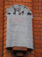 Photo of Robert Tressell stone plaque
