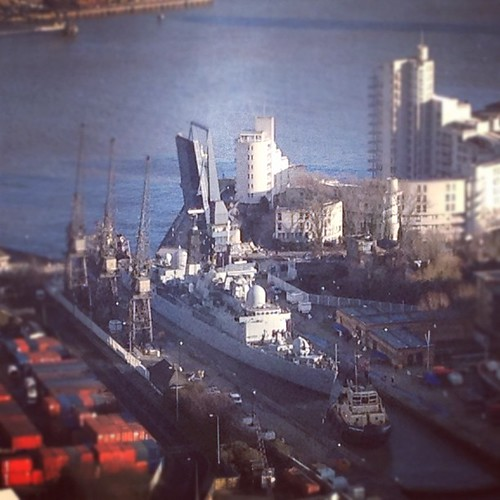 HMS Liverpool docking manoeuvre brightens up office life for 35 minutes
