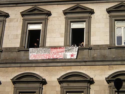 Occupazione del rettorato dell'Università Federico II: il nostro futuro non è carta straccia!