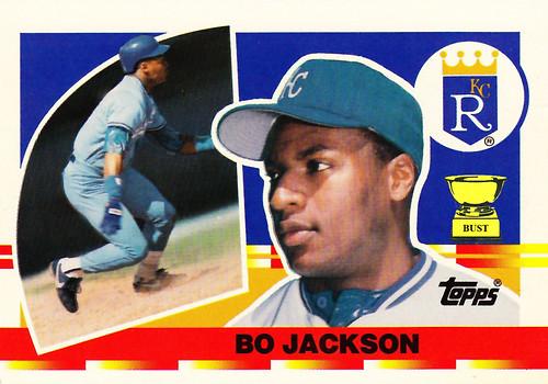 Baseball Card Bust Bo Jackson 1990 Topps Big