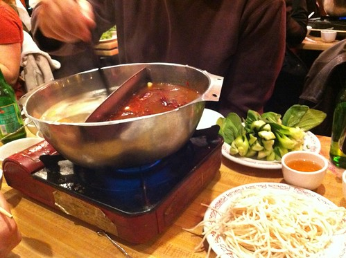 Chinese hot pot in Chinatown, NYC