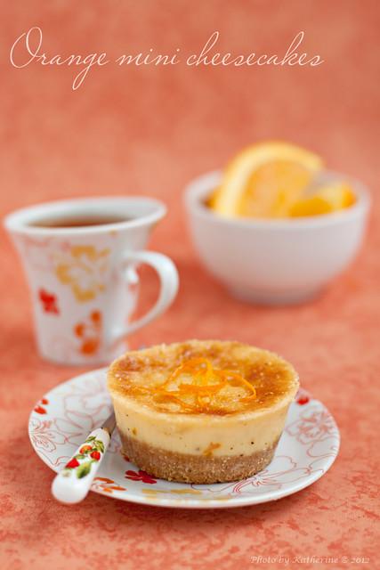 Orange mini cheesecakes 1