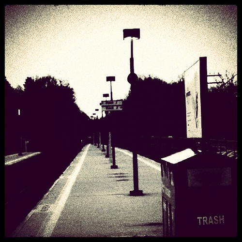 Vanishing point, rail platform #iphoneography