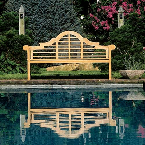 Popular The Lutyens style bench is a classic this one is made by Kingsley Bate and I kept visiting it in a local teak store as I thought it would look beautiful