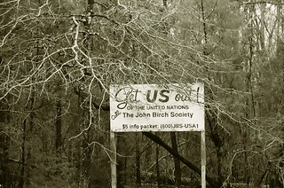 "Odd Signs of Past: John Birch Society ""Get Us Out of UN"""