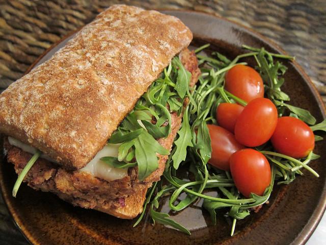 Homemade veggie burger | Flickr - Photo Sharing!