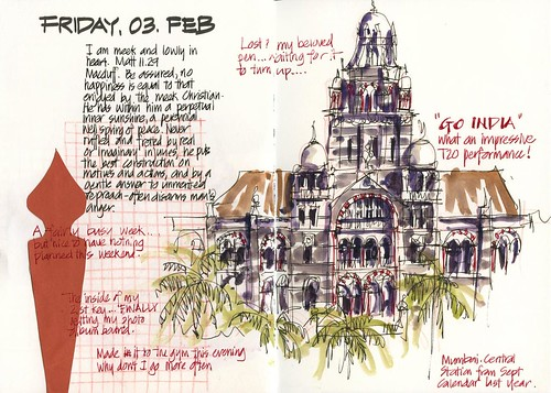120203 Friday night architecture sketching