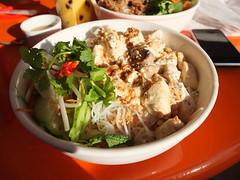Tofu & Mushroom noodles