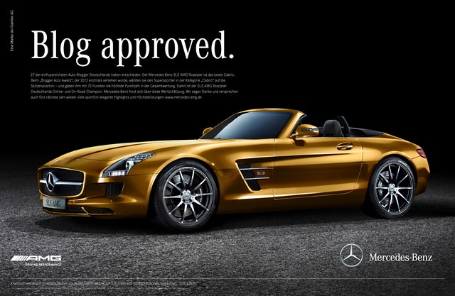 SLS AMG Roadster-Blogger Award