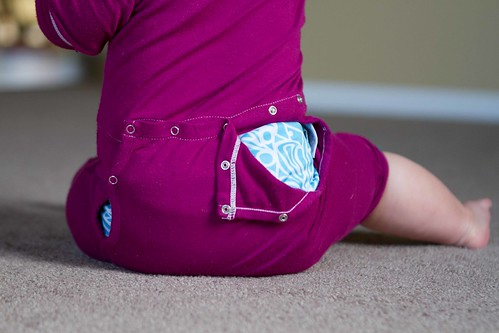 cloth diaper butt flap.