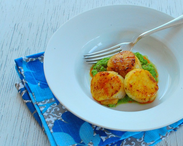 Indian Spiced Scallops