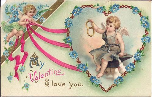 My Valentine I Love You-Vintage 1913