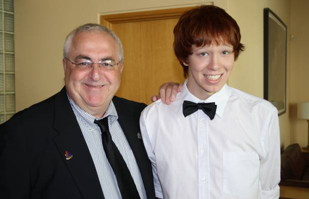 Family photo of Jamie Hubley and his father, Kanata South councillor Allan Hubley, as posted in the Ottawa Citizen online
