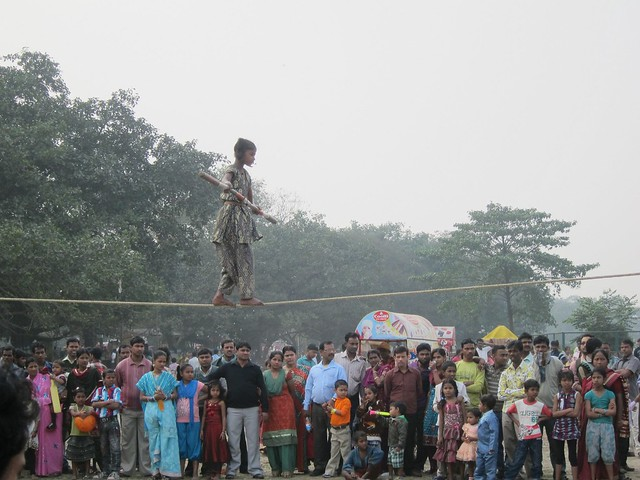 Tightrope Walker on the Maidan