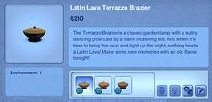 Latin Lava Terrazzo Brazier