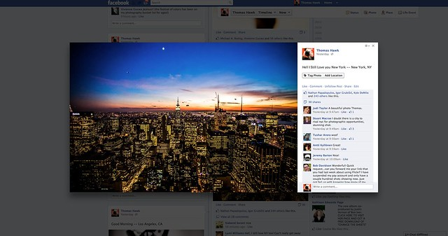 Facebook's New Lightbox View