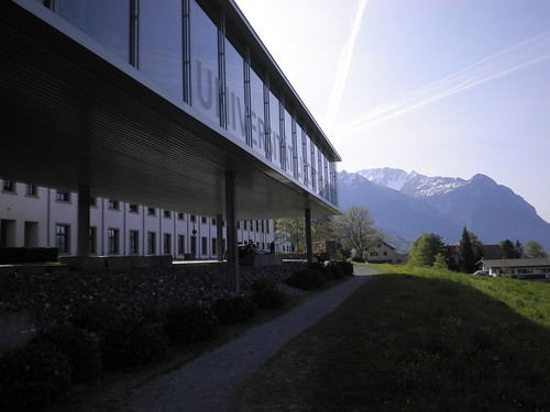 alps reflection architecture modern sunrise steel extension liechtenstein vaduz universitätfl ebanholz