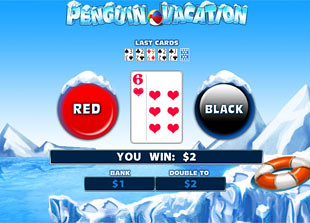 Penguin Vacation Gamble Feature