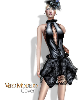 VERO MODERO / Cover Dress Black, 600 lindens by Cherokeeh Asteria