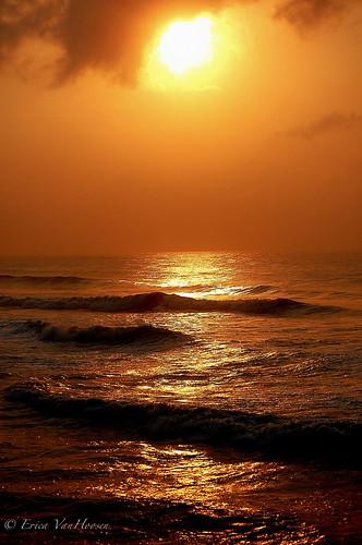 ocean sunrise landscape ghana