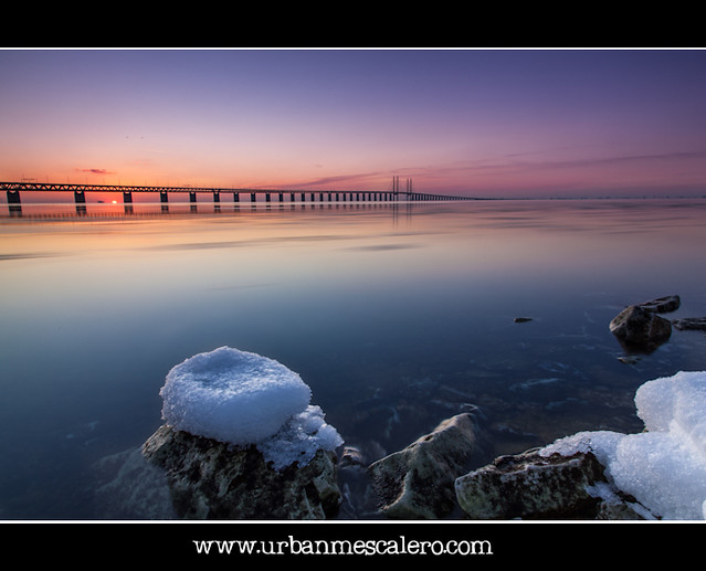 Sunset at Øresunds/Öresunds Bridge