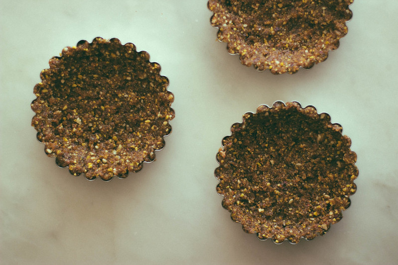 Raw Tarts with Avocado Chocolate