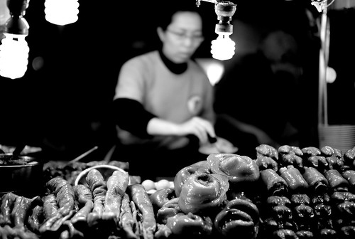 street food in taipei market