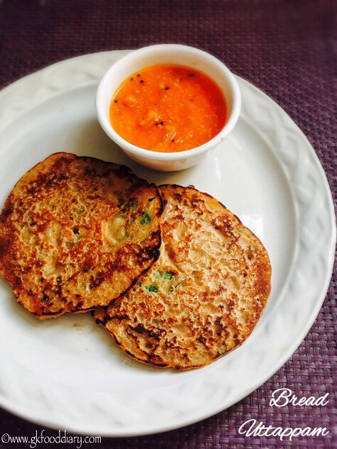 Bread Uttappam Recipe for Toddlers and Kids2