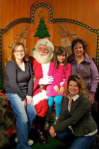 Pranty Girls with Santa.