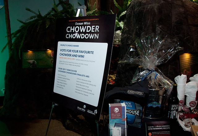 Vote for your favourite chowder! The People's Choice Award sign