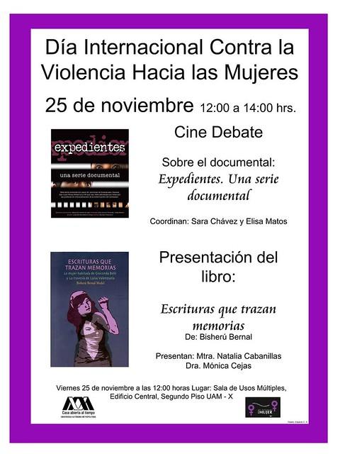UAM Día Internacional contra la Violencia hacia las Mujeres