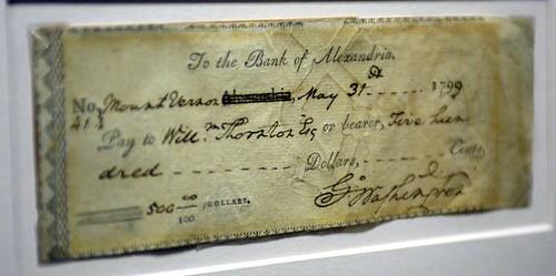 George Washington check