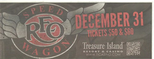 12-31-11 REO Speedwagon @ T.I. Casino, Welch, MN
