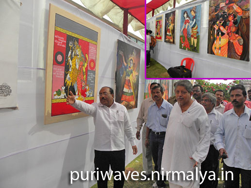 Honorable Minister Tourism is visiting Artist Camp at Puri