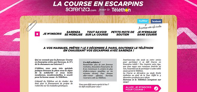 Course en escarpins