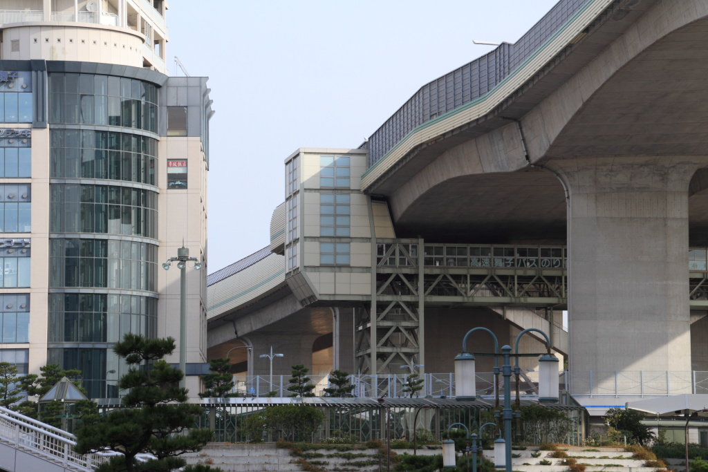 Maiko Station and Akashi-Kaikyo Bridge